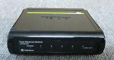 Trendnet te100-55 / Uk 5 Port 10/100mbps Auto-mdix Fast Ethernet Mini Interruptor