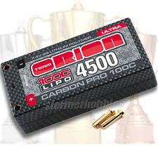 Team Orion Carbon Pro LiPo 4500mAh 100C 7.4V Ultra Shorty, ORI14068 w/connectors