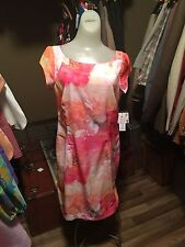 Liz Claiborne Beautyfloral Dress Vintage Style Rockabilly Business NWT Size 8