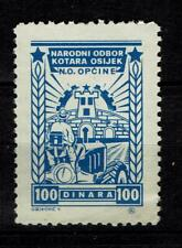 Croatia in Yugoslavia Local Revenue Stamp Naroni Odbor Kotara Osijek 100 Dinar