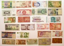 Foreign Currency Set of 25 Banknotes World Paper Money Mixed Notes