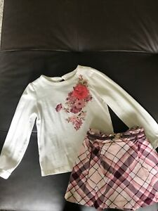 Janie and Jack girls 3T skirt outfit VGUC