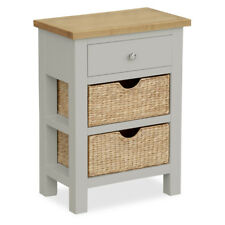 Farrow Grey Telephone Table Solid Wood Small Hall Side Console Bathroom Storage