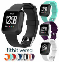 Silicone Sport Band Replacement Soft Bracelet Strap For Fitbit Versa Lite S / L