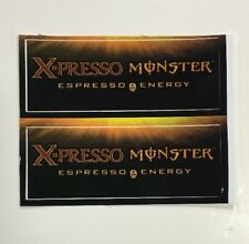 Monster X-presso Energy Drink Stickers (2) Unused NOS