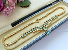 VINTAGE FACETED CRYSTAL / RHINESTONE NECKLACE - BRIDAL WEDDING PROM BALL