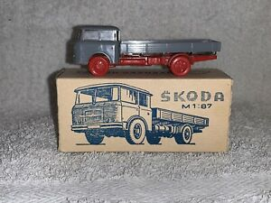 DDR Modell Espewe ? Hruska Lkw Skoda Rotes Fahrgestell Selten OVP Spur H0