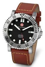 Praetorian ® LEGIONNAIRE Automatique Bracelet en cuir-verre saphir-Montre-bracelet
