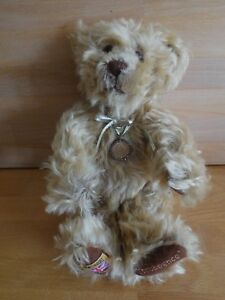 MERRYTHOUGHT TUPPENCE TEDDYBEAR WITH NECKLACE STAMPED SILVER