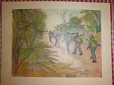 Vietnam Liberation War Art - On The Way To The Front - Viet Cong - Nlf - 22