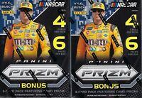 (2) 2018 Panini PRIZM Racing NASCAR Trading Cards New 27ct. Blaster Box LOT