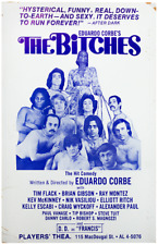 BITCHES, THE (1972) Vntg orig window card poster for early gay theatre prod