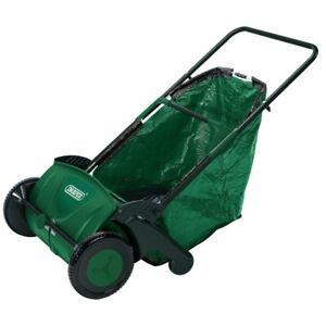 "Draper 21"" Manual Push Rolling Garden Leaf Sweeper Collector Lawn Machine"