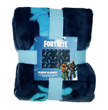 Official Fortnite Blue Contrast Super Soft Fleece Throw Blanket 100 x 150cm
