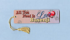 """All You Need Is Love"" - Basenji - Tassel Bookmark - Ayn# 046"