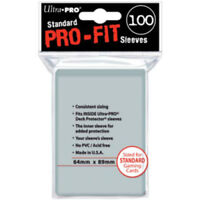 Ultra Pro Standard Pro Fit Clear MTG Pokemon Deck Protectors