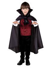 Vampir Umhang Schwarz f. Kinder Halloween Fasching