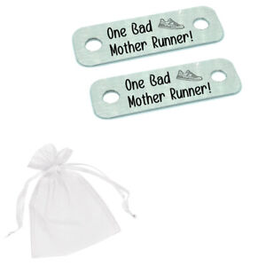 One Bad Mother Runner Funny Mum Mummy Running Race Trainer Tags Mothers Day Gift