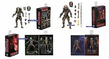 "NECA PREDATOR ULTIMATE JUNGLE HUNTER & CITY HUNTER SET OF 2 - 7"" SCALE FIGURES"