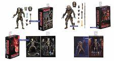 """Neca Predator Ultimate Jungle Hunter & City Hunter Conjunto de 2-Figuras 7"""" Escala"""