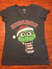 Women's/Juniors Sesame Street Christmas Humbug Oscar Grouch T-shirt X-Large XL
