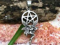 Pentagramme Elfe Pendentif 925 Sterling Argent Fée Elfes Femme Gothique