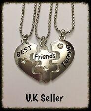 3pcs collane amicizia. migliore amico. 3 borse regalo gratuito.