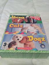 Pack de 3 Juegos: HorseZ, CatZ, DogZ Pc Dvd Rom CodeGame Kids