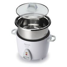 Aroma Simply Stainless 3-CupUncooked to 6-Cup Cooked Rice Cooker, White #980