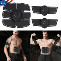 3 In 1 Smart EMS Fitness Belt Abs Muscle Toning Trainer Charminer Stimulator USA