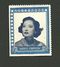 Merle Oberon Movie Film Star 1947 Hollywood Sticker Stamp
