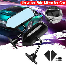 F1 Type Adjustable Side Mirror Wing Mirror Flat Glass Glossy Black