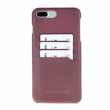 Snap-on Slim Leather Case with Credit Card Slots for Apple iPhone 8 Plus / iPhon