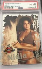Nidia 2004 Wwe Fleer Divas Femme Physique Card #5 Psa 8 Low Pop