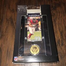 Highland Mint NFL Houston Texans J.J. Watt Ticket & Bronze Coin Acrylic Desk Top