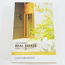 Dearborn Modern Real Estate Practice Flashcard Review 19th Edition Test Exam New