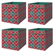 IKEA DRÖNA grün-rot Fach Box Expedit Kallax Regal Aufbewahrungsbox  4 Stück