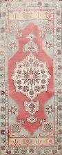 Geometric Handmade Authentic Oushak Turkish Oriental Area Rug Wool Carpet 2x4 ft