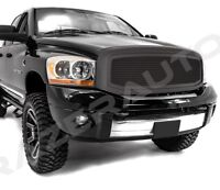 06-09 Dodge RAM 2500+3500 Front Hood Matte Black Mesh Grille+Replacement Shell