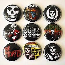 THE MISFITS Punk Badges Buttons Pin Set Lot x 9 One Inch 25mm