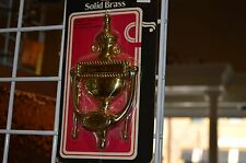 """7 1/2"""" Solid Bright Brass Door Knocker"""