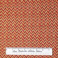 Fall Fabric - Great Harvest Basketweave Red Orange Green - Debbie Mumm YARD