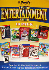 Swift Family Entertainment Suite 10 Pack PC Windows 98/2000/XP Games NEW - K
