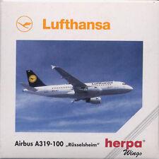 Herpa Wings 1:500 Lufthansa Airbus A319-100 Russelsheim prod id 508933 rlsd 1997