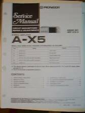Pioneer Service Manual~A-X5 Stereo Amplifier Amp