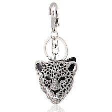 Borsa a mano Fibbia Charms Accessori Nero Leopardo Testa Portachiavi Portachiavi hk27