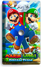 SUPER MARIO AND LUIGI BROS LIGHT DIMMER V CABLE WALL PLATE COVER GAME ROOM DECOR