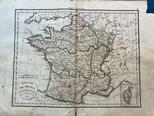 Belle grande carte geographique ancienne/Felix Delamarche/1828/ France et 86 dpt