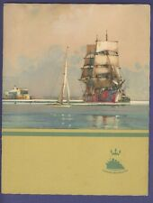 1948 RMS Samaria- Luncheon Menu - Cunard White Star Line
