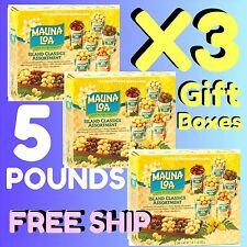 MAUNA LOA ISLAND ASSORTMENT MACADAMIA NUTS X3 / 6-PACK GIFT BOXES = 5 LBS HAWAII